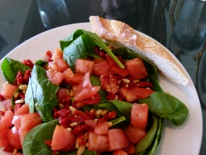 Skylark's spinach salad
